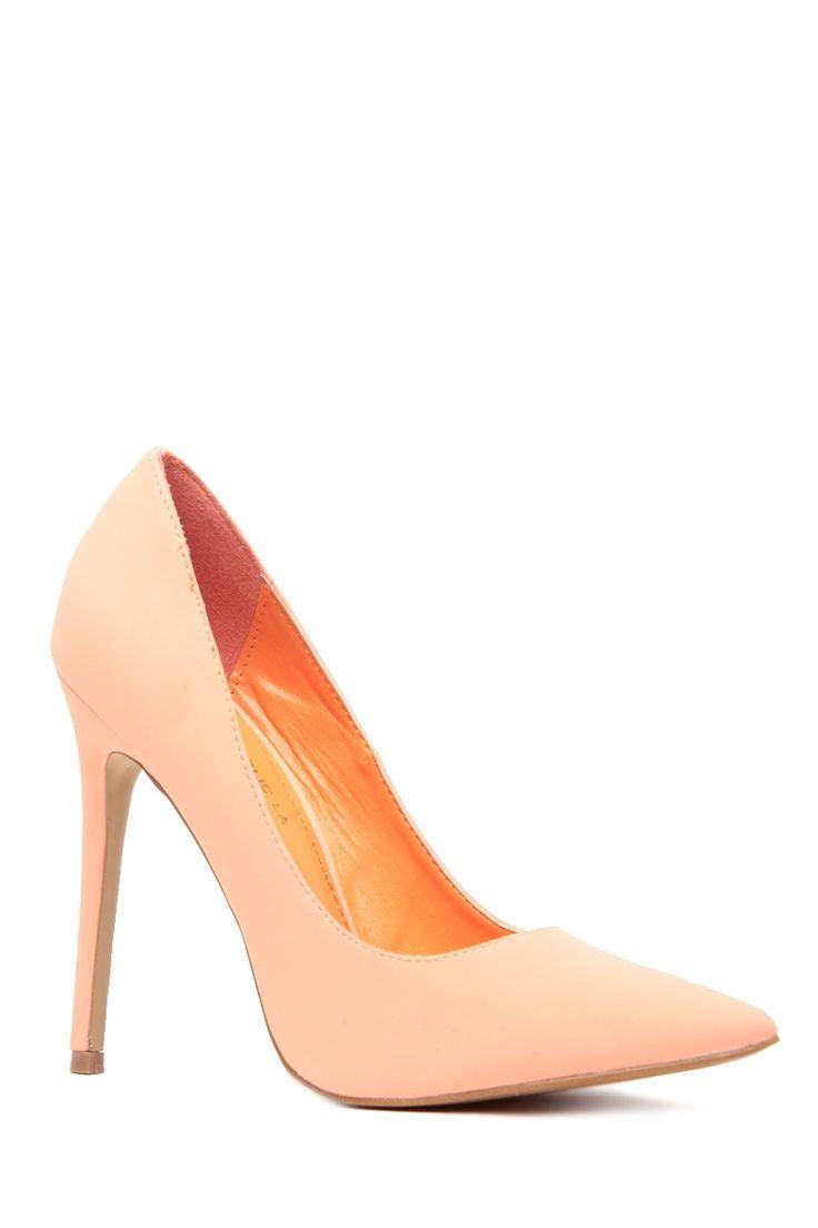 84689c9149d2 Women s Fashion High Heels   Peach Faux Nubuck Pointy Toe Classic Pumps   Cicihot  Heel Shoes