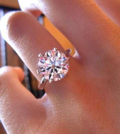 A Perfect 4 8ct Round Cut Solitaire Russian Lab Diamond Engagement