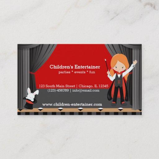 Magic Show Business Card Zazzle Com Magic Show Modern Business Cards Business Card Template Design