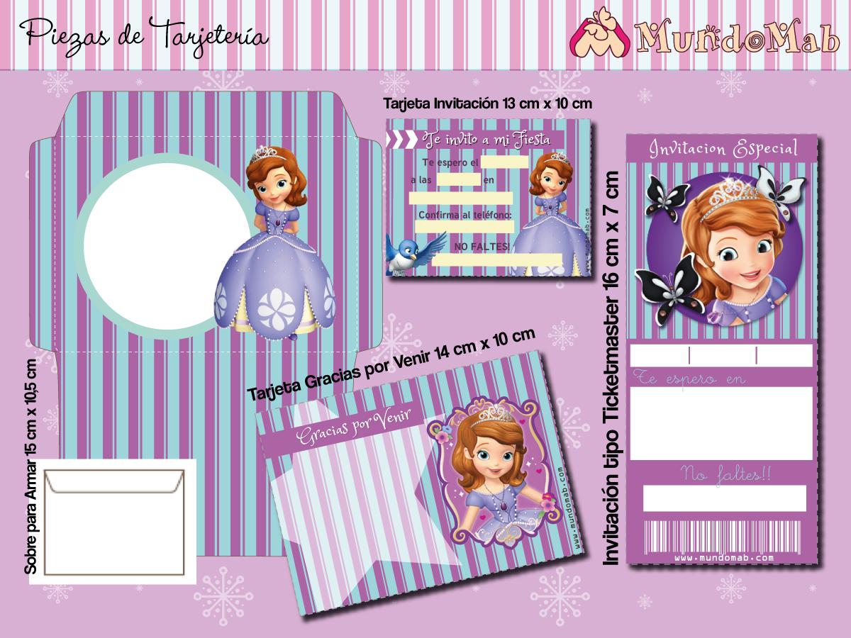 Princesa Sofía Kit Imprimible De Cumpleaños Cumpleaños