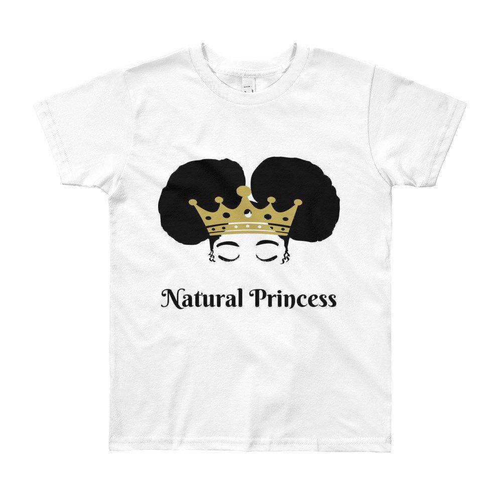 Natural hair princess years old kids tshirt black lives