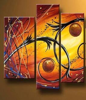 Cuadros Abstractos Modernos Tripticos Dipticos Retratos Cuadro Abstractos Cuadros Modernos Pinturas Abstractas