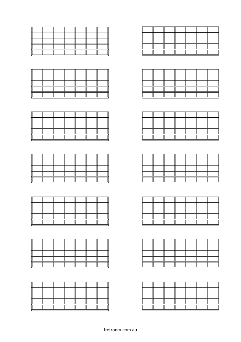 blank neck diagram 14x07 - blank fretboard. 14 blocks with 7 frets each. | templates | pinterest home fuse box diagram blank