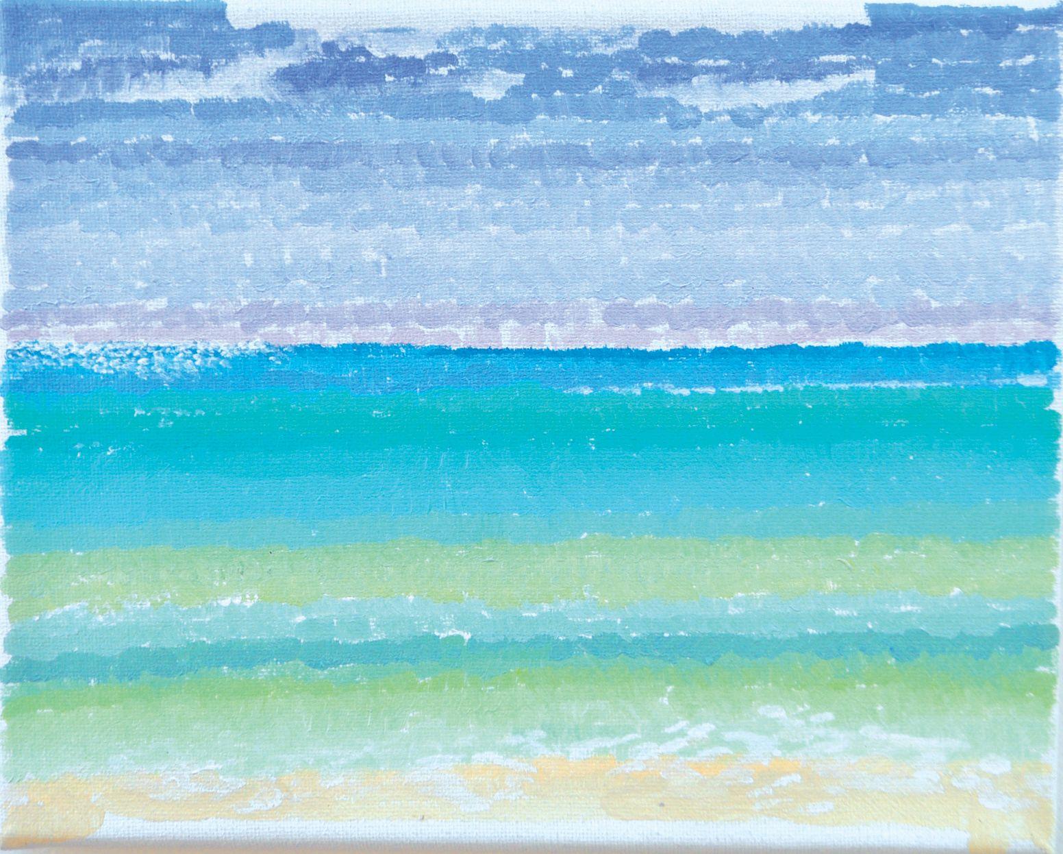 "'Nokomis Beach, Casey Key"", 2012  acrylic on linen. 8 x 10. Part of the Florida gulf Coast series."