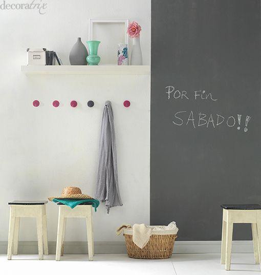 pintura-de-pizarra-gris-graffiti-cuarto-color | Decoracion ...