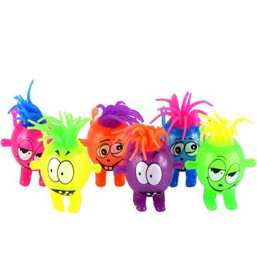 Available in six bright colours, Moody Mates are a fantastically fun fidget toy!  You can squeeze them, bounce them, stretch their hair and even better – they light up!