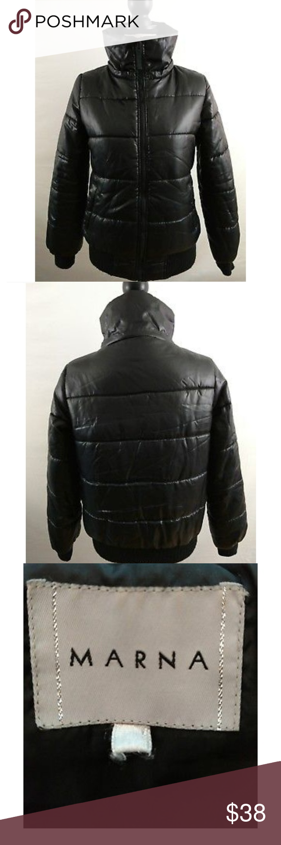 Womens Marna Puffer Jacket Coat Full Zip Mock Neck Puffer Jackets Jackets Coats Jackets [ 1740 x 580 Pixel ]