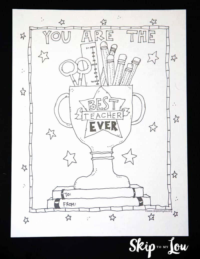 Teacher Appreciation Free Printables Inspirational Christmas Coloring Pages For A Teacher Free Printable Thank You Day In 2020 Knutselen Creatief Pokemon
