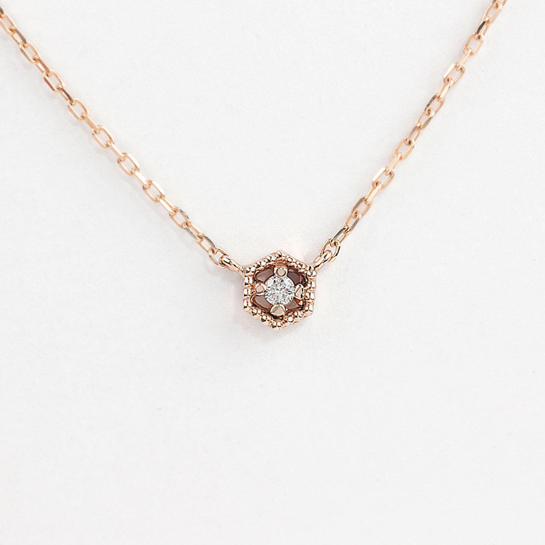 14k rose gold diamond necklace diamond floating necklace tiny