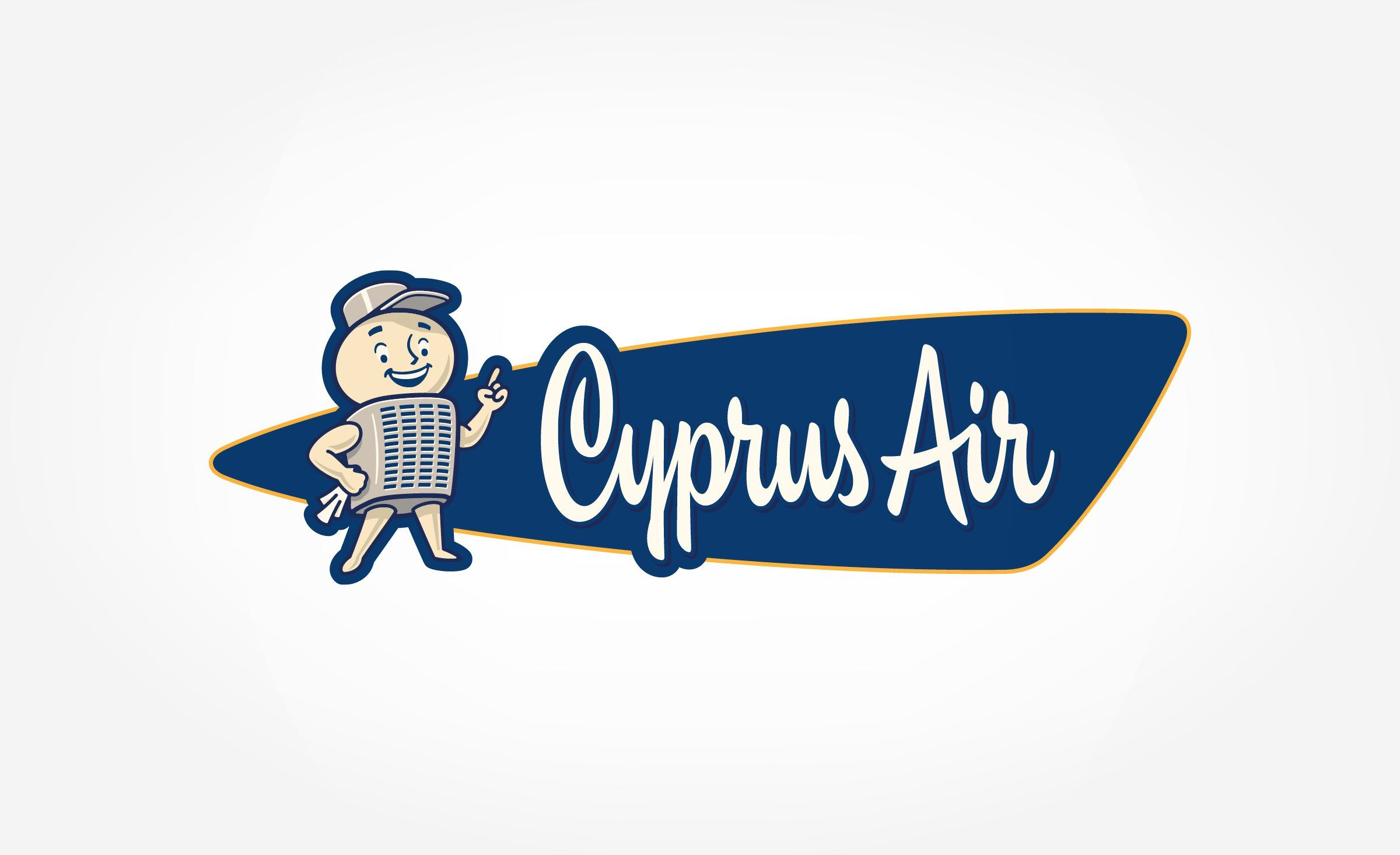 Mascot logo design for heating and air conditioning