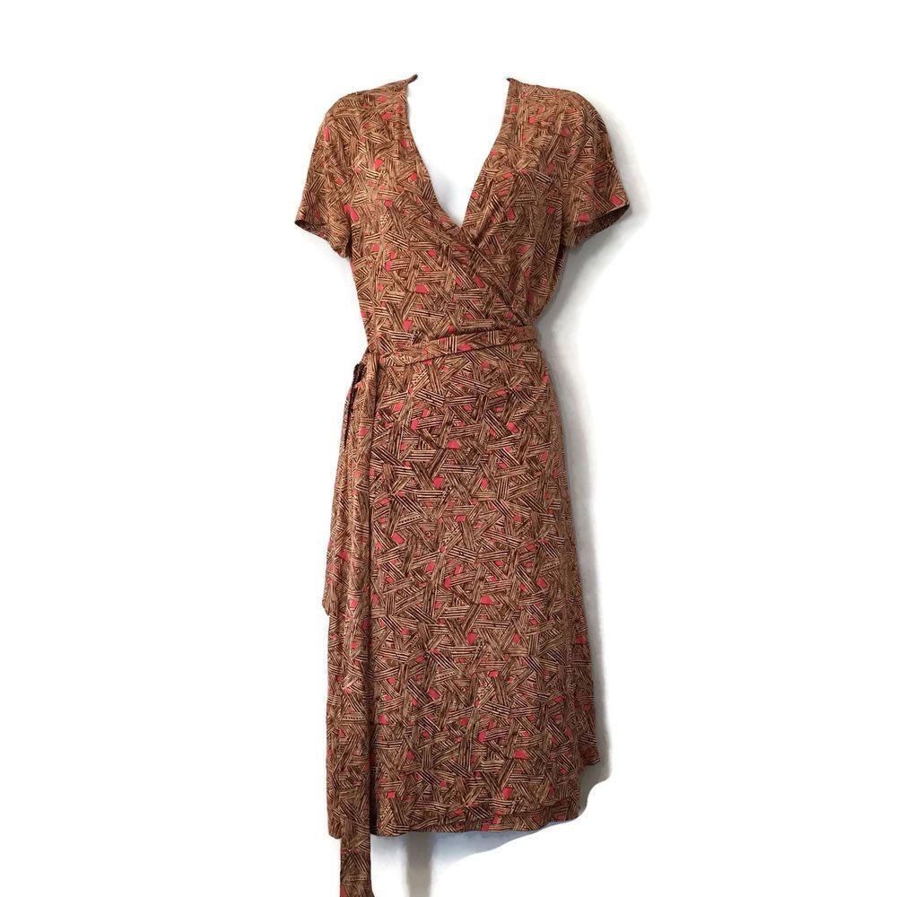 Vintage Diane Von Furstenberg Wrap Dress 90s Dvf 100 Silk Wrap Dress Brown Wickelkleid Frauen Outfits Kleider [ 1000 x 1000 Pixel ]