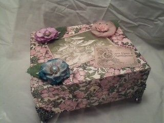 Graphic 45's Once Upon a Springtime Music Box (remade cigar box) @ Silverfrogspad.blogspot.com
