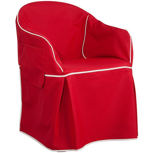 Improvements Low Back Padded Resin Chair Cover Long Red Brick