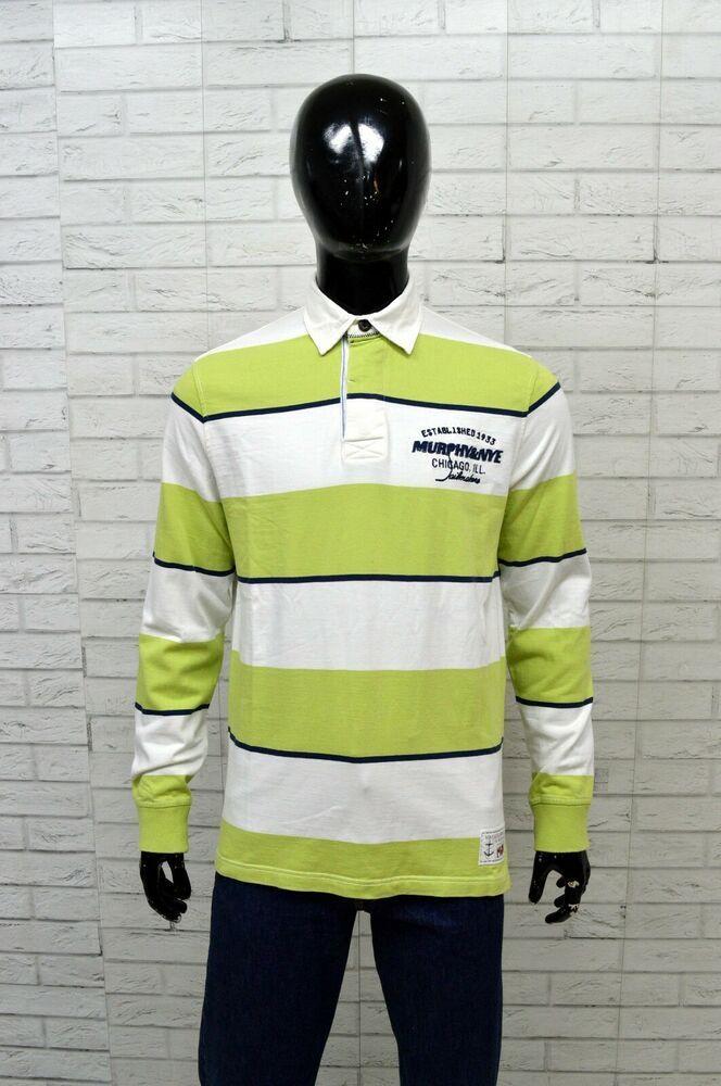 best service c824c 35e9d Polo Uomo MURPHY & NYE Taglia Size L Maglia Shirt Man Manica ...
