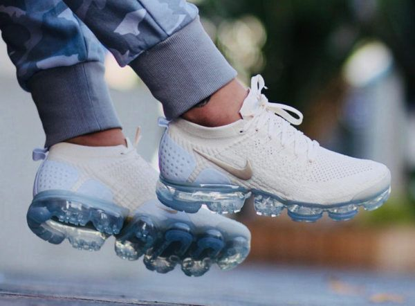 42f8f9df2a95fb Legit Cheap Nike Air Vapor Max Flyknit 2 Womens Sneakers Light Cream Gold  White 942843-201 Hot Sale