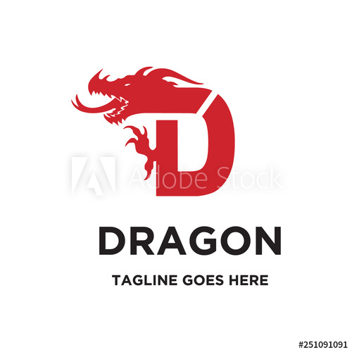 Letter D Initial For Dragon Logo Icon Vector Template Buy This Stock Vector And Explore Similar Vectors At Adobe Stock Adobe Stock