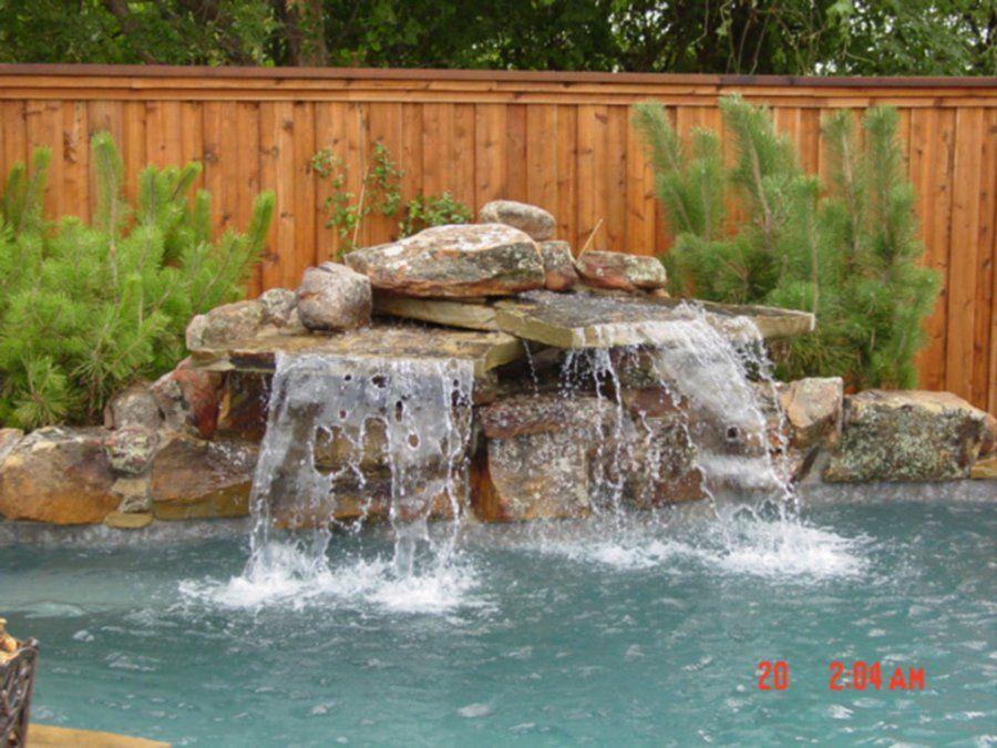 Swimming Pool Rock Waterfalls Waterfall Construction at Natural