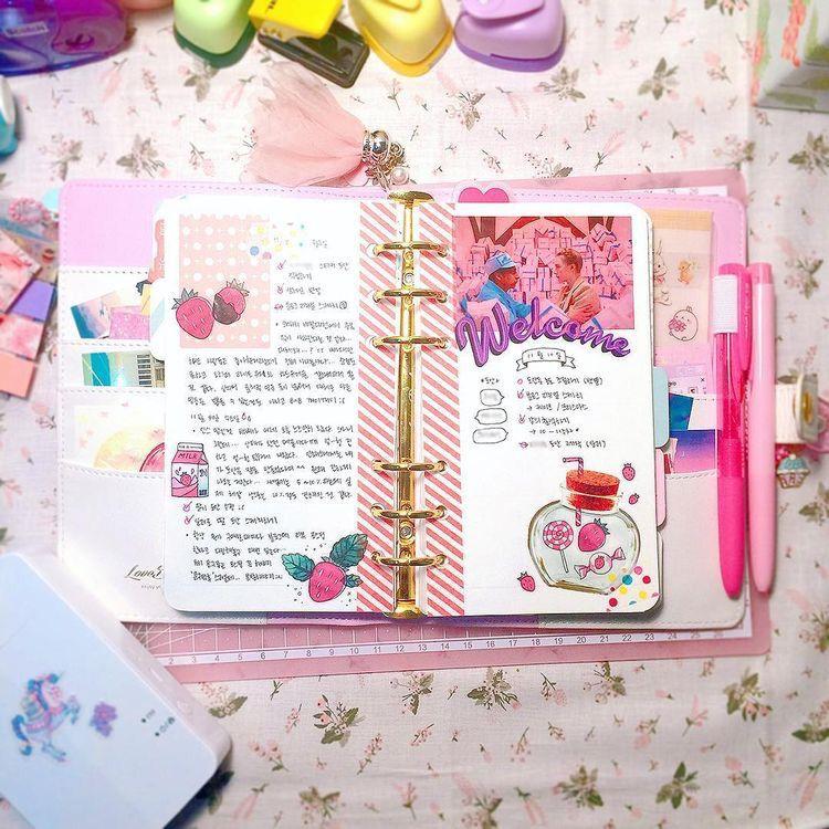 Pin by 달 ☽ on ⎾ 저널 ⏌ | Diy valentine's book, Scrapbook ...