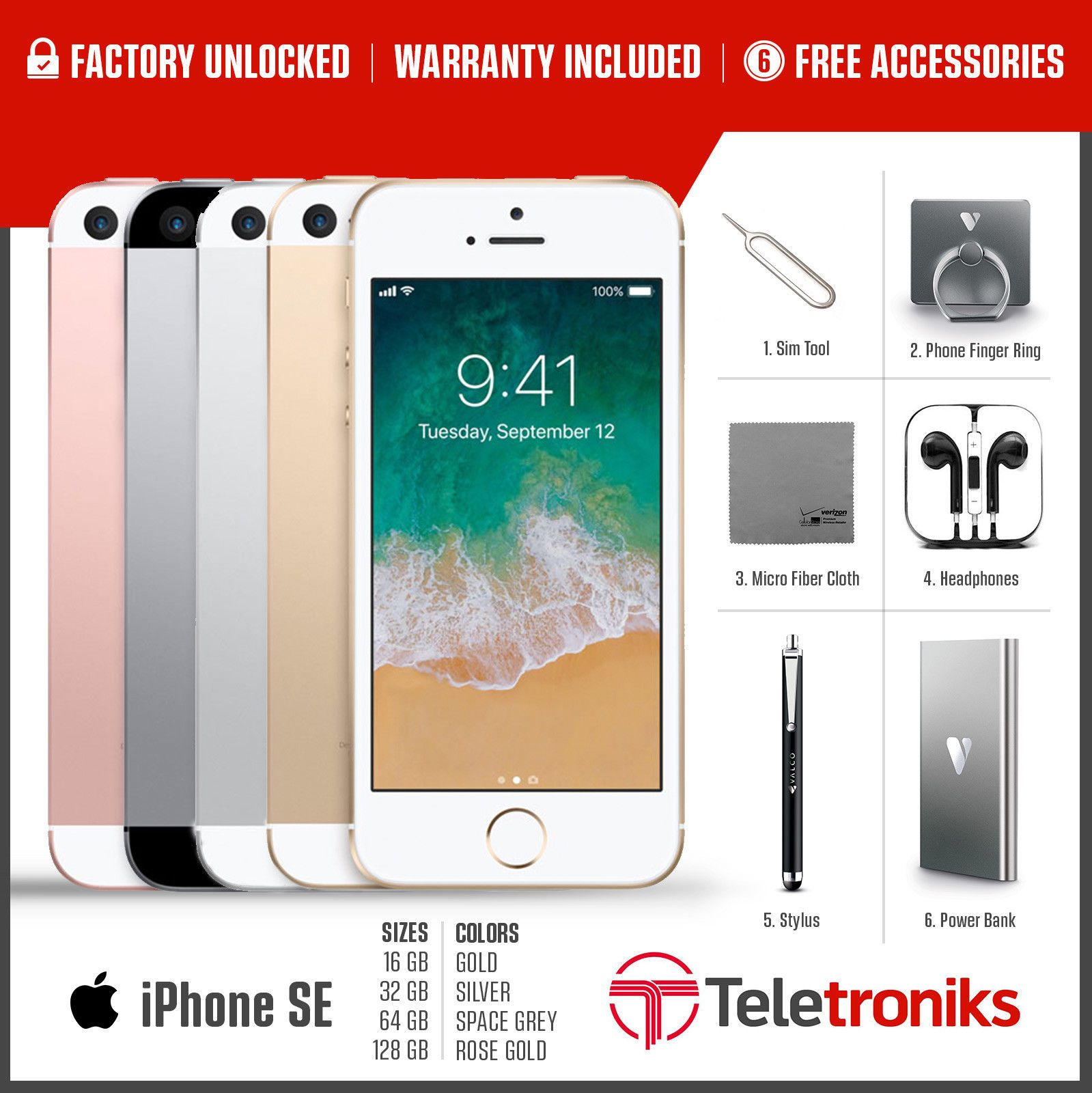 Apple Iphone Se 16gb 32gb 128gb 256gb All Colors T Mobile At Grey