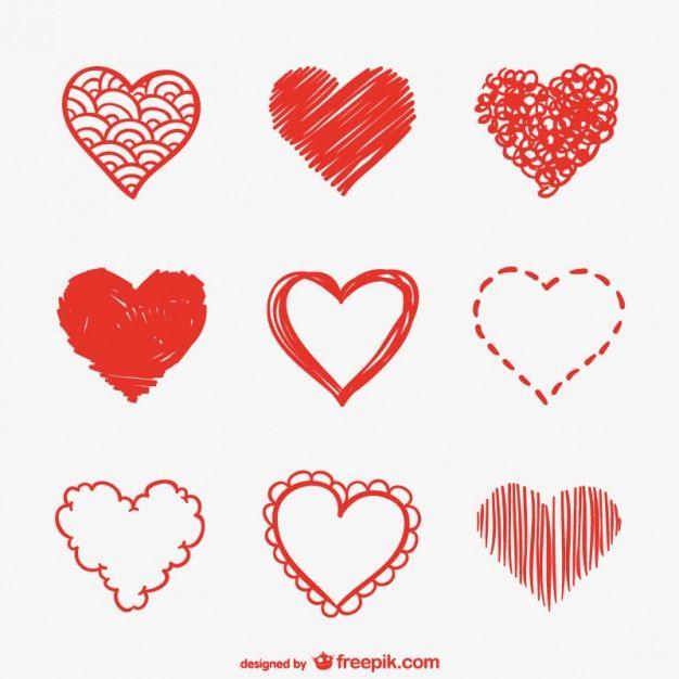 Coracao Esbocos Pacote Vector Baskilar Pinterest Heart Sketch