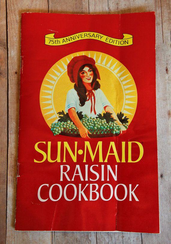 Sunmaid Raisin Cookbook by KTsVersion on Etsy,