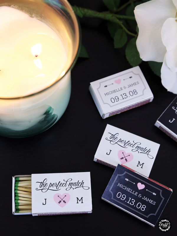 The Perfect Match Personalized Matchbox Covers Wedding Favor