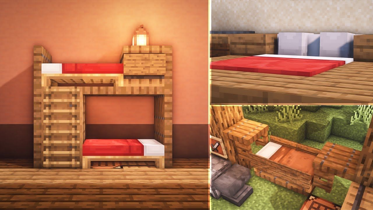Minecraft: 8 Bed Build Hacks and Ideas in 2020 | Minecraft ...