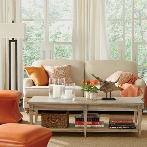 Creamsicle living room ethan allen living room nook - Ethan allen living room inspiration ...