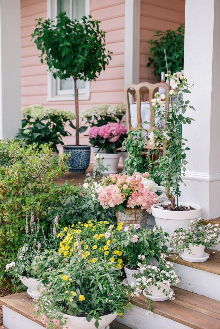So many flowers!  건물, 구조물  Pinterest
