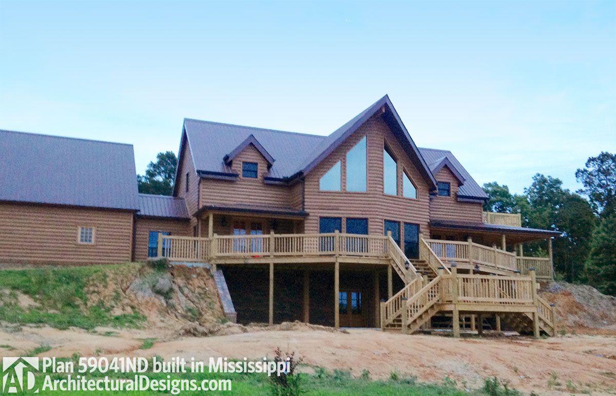 Plan 59041nd Log Home Elegance Log Homes Architectural House Plans Rustic House Plans