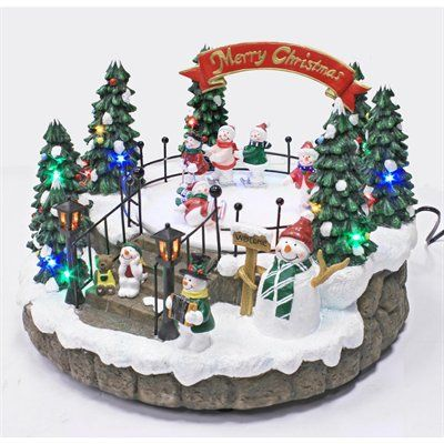 picked this up at lowes goes great with a north pole village scene snow