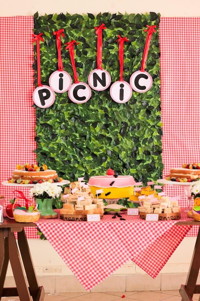 Picnic themed 1st birthday party via Karau0027s