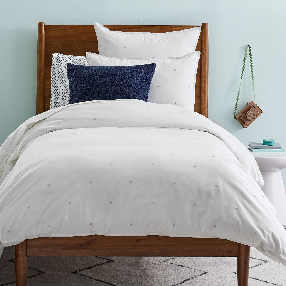 c24764c210a5 Organic Washed Cotton Duvet Cover + Shams - Stone White | Kids room ...