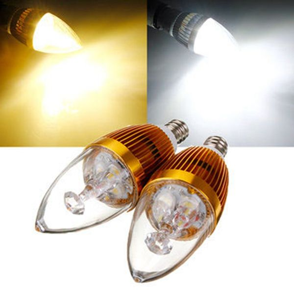 E12 9w White Warm 3 Led Chandelier Candle Light Bulb 85 265v