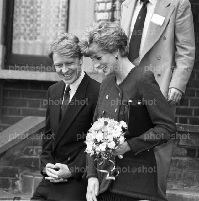 Princess Diana and her brother Earl Spencer (Question mark on Earl Spencer - doesn't look like him)