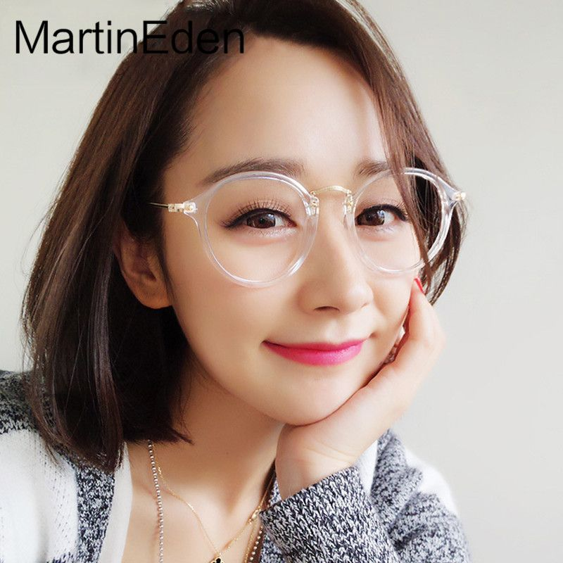 Retro Transparent Glasses Frame Men Women Clear Eyeglasses Frames ...