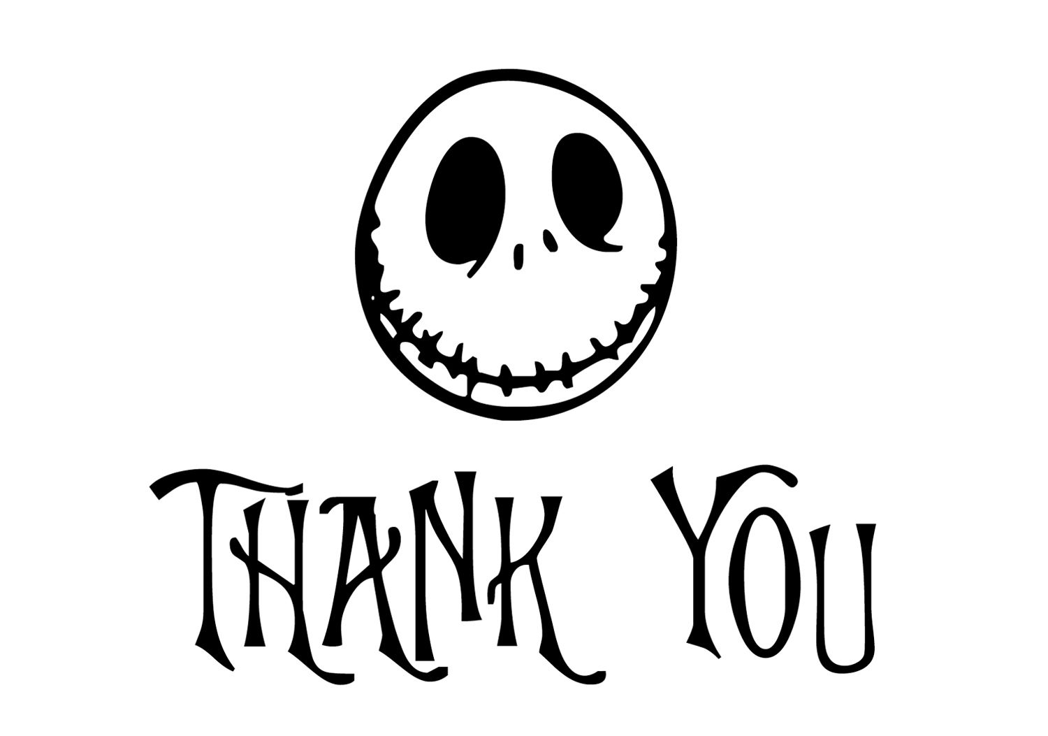 Nightmare Before Christmas Thank You Notes