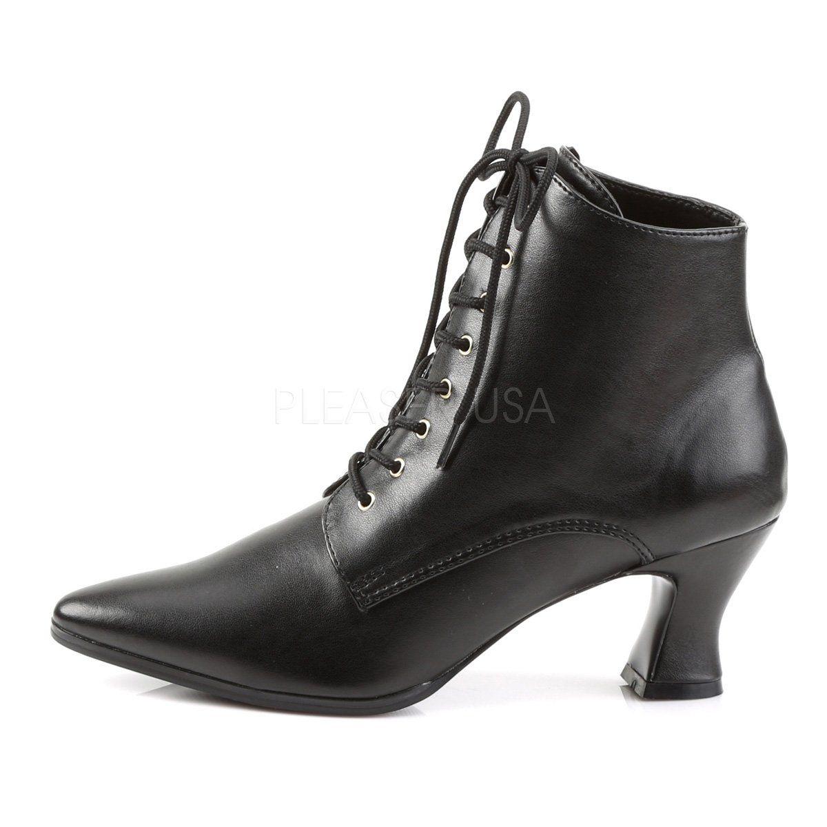 Funtasma Victorian 35 Black Pu Women S Boots Boots Womens Boots Ankle Kitten Heel Boots