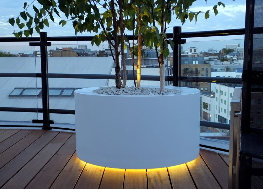 LED Light Underneath In A Roof Terrace Exterior Ideas Pinterest Trees