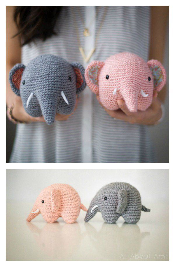 Adorable Crochet Elephant Amigurumi Free Patterns - #Adorable #Amigurumi #crochet #Elephant #Free #Patterns #crochetelephantpattern