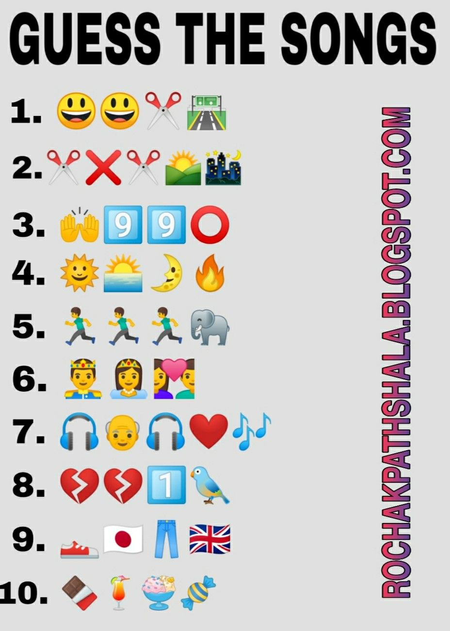 Guess The Songs From Emoji In 2020 Songs Funny Brain Teasers Song Challenge