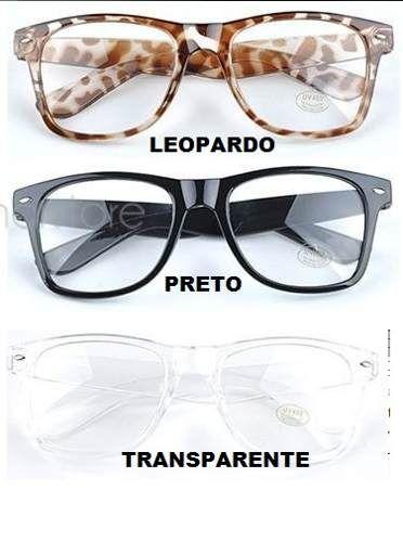9356e80b69128 armação óculos de grau wayfarer retrô nerd geek . l. transp.