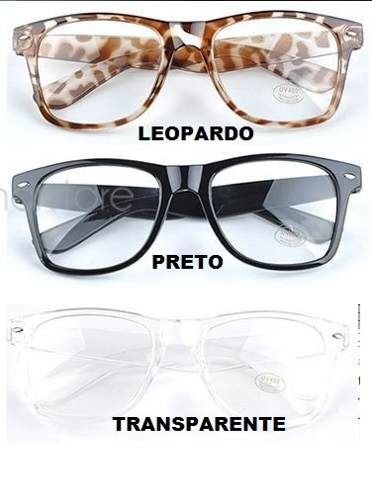 04037404f3ea4 armação óculos de grau wayfarer retrô nerd geek . l. transp.