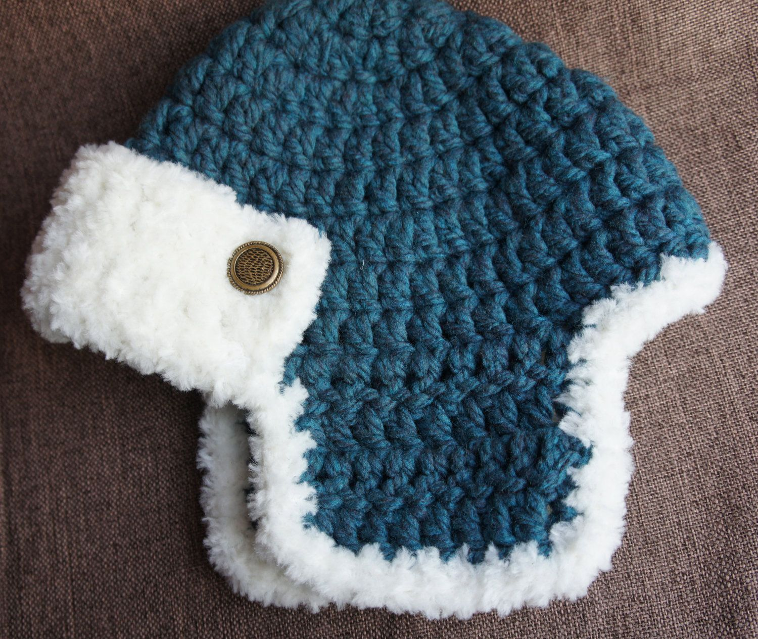 baby boy aviator hat-crochet bomber- beanie | gorritos bb | Pinterest