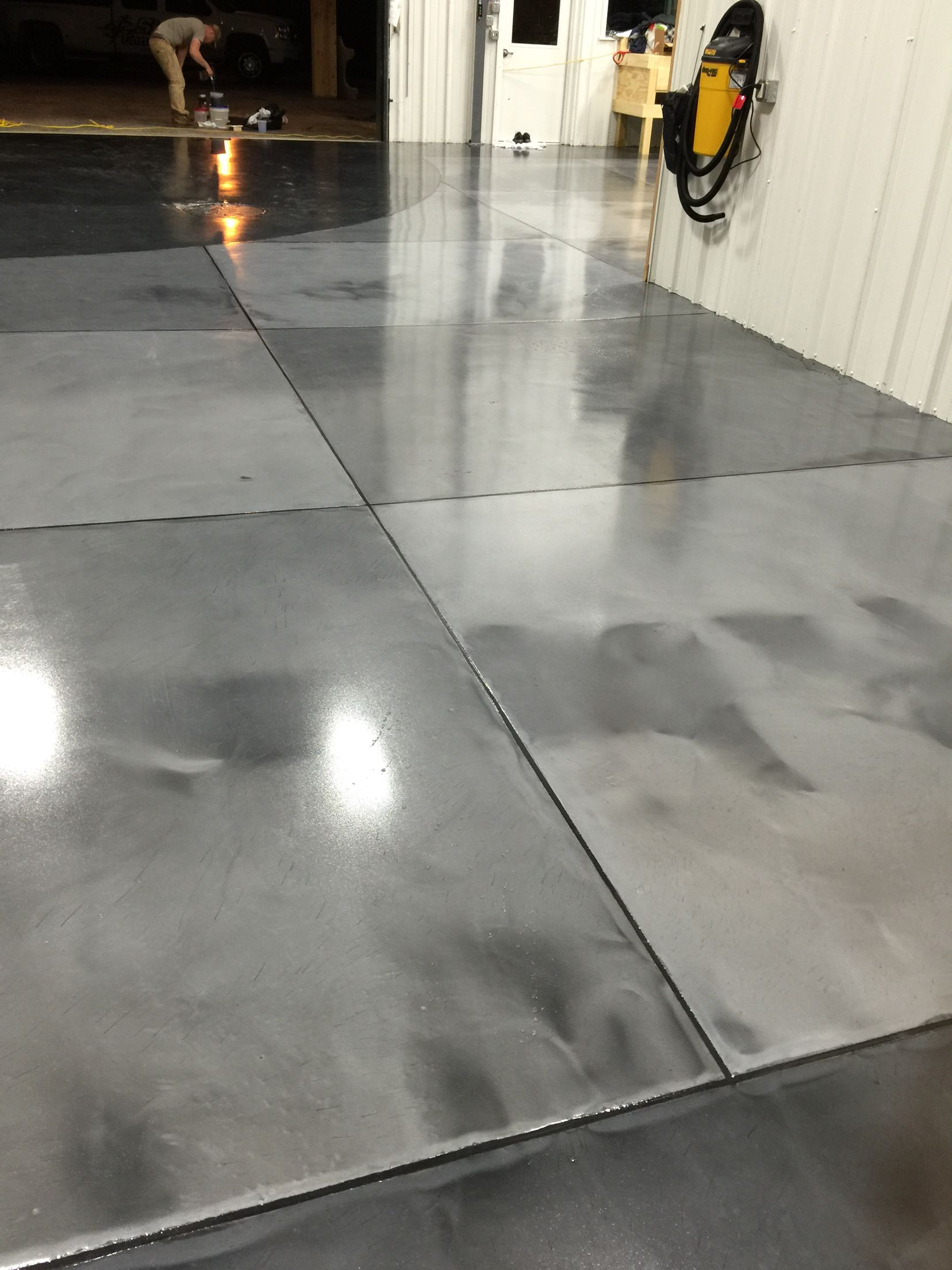 Metallic Epoxy Floor Coatings With Epoxy Grout Lines By Sierra
