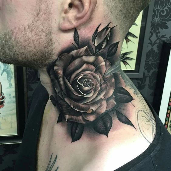 Tatuajes De Rosas Para Hombreimpresionantes Tatuajes De