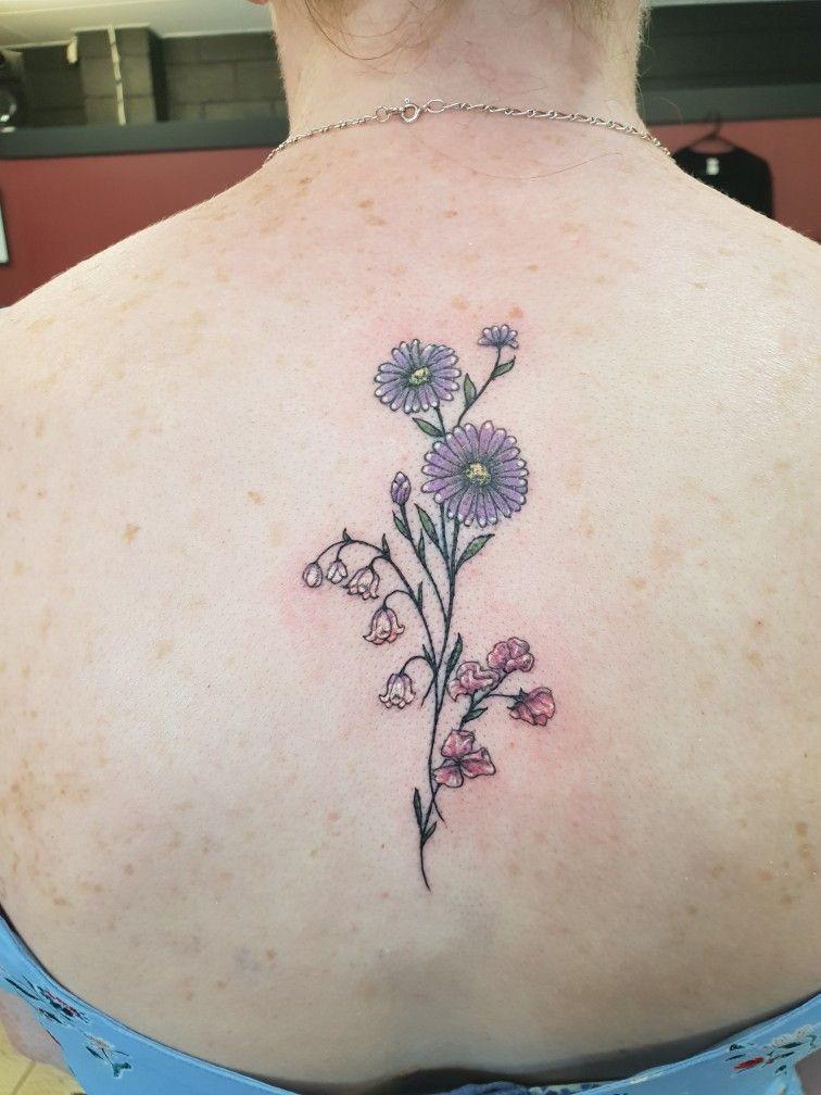 Birth Month Flowers Aster Flower Tattoos Sweet Pea Tattoo Beautiful Flower Tattoos