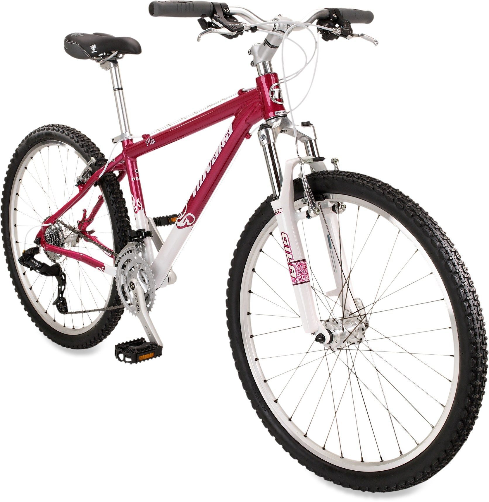 Adorable hot pink mountain bike. She might be my next!!