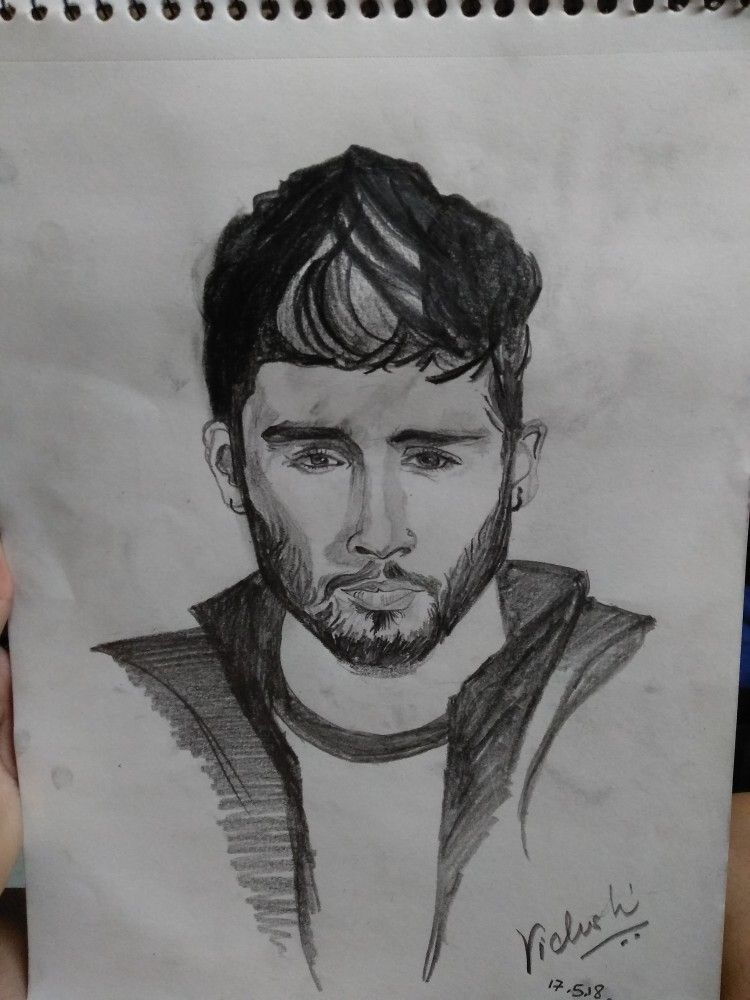 Zayn malik pencil sketches by sketches by vidushi check out my instagram page