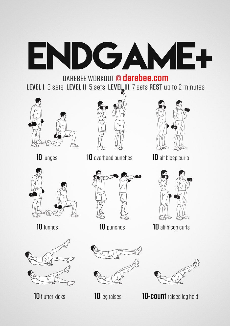 Endgame Plus Workout #dumbbellworkout